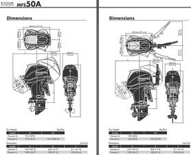 Фото 2 к товару Мотор лодочный четырехтактный Tohatsu MFS50A ETL