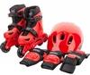 Коньки роликовые + шлем и защита Reaction красный/черный - фото 1