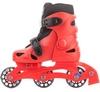 Коньки роликовые + шлем и защита Reaction красный/черный - фото 2