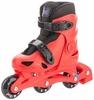 Коньки роликовые + шлем и защита Reaction красный/черный - фото 3