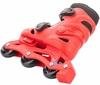 Коньки роликовые + шлем и защита Reaction красный/черный - фото 4