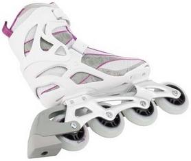 Фото 2 к товару Коньки роликовые женские Reaction Women's Inline Skates R206W-0P белые