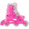 Коньки роликовые раздвижные детские Reaction Kid's inline skates of extension-type RC15GX2 розовый - фото 1
