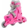 Коньки роликовые раздвижные детские Reaction Kid's inline skates of extension-type RC15GX2 розовый - фото 4