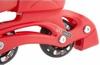 Коньки роликовые раздвижные детские Reaction RC16B-R9 красный/черный - фото 7