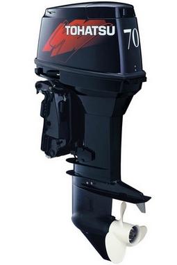 Мотор лодочный двухтактный Tohatsu M70C EPTOL