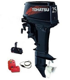 Фото 1 к товару Мотор лодочный двухтактный Tohatsu M25H EPL