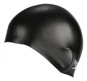 Фото 2 к товару Шапочка для плавания детская Speedo Plain Moulde Silicone Junior Cap Black
