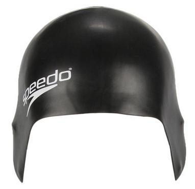 Шапочка для плавания детская Speedo Plain Moulde Silicone Junior Cap Black