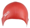 Шапочка для плавания детская Speedo Plain Moulde Silicone Junior Cap Red - фото 1