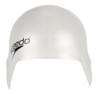 Шапочка для плавания детская Speedo Plain Moulde Silicone Junior Cap White