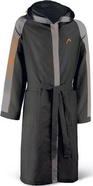 Халат для бассейна Head Microfiber мужской (черно-серый)