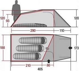 Фото 5 к товару Палатка трехместная Wechsel Outpost 3 Zero-G Line