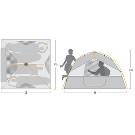 Фото 2 к товару Палатка четырехместная Caribee Spider 4 Easy Up