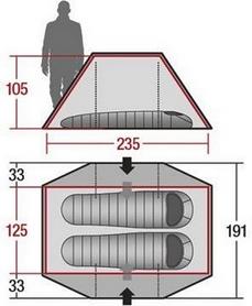 Фото 6 к товару Палатка двухместная Wechsel Aurora 2 Zero-G Line (Sand)