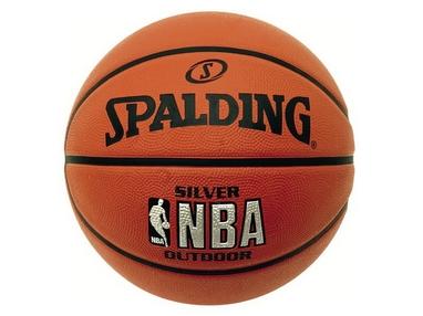 Мяч баскетбольный резиновый Spalding NBA Silver Outdoor №5