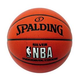 Мяч баскетбольный резиновый Spalding NBA Silver Outdoor №7