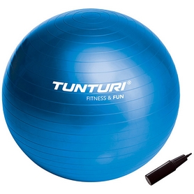Фото 1 к товару Мяч для фитнеса (фитбол) Tunturi Gymball 90 см синий