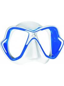 Маска для дайвинга Mares X-Vision Liquidskin 13 бело-синяя