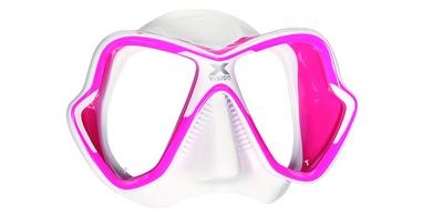 Маска для дайвинга Mares X-Vision Ultra LS бело-розовая