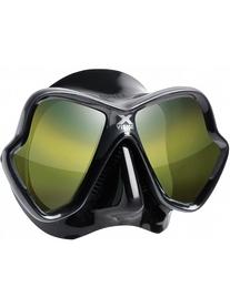 Маска для дайвинга Mares X-Vision Ultra LS черная с зеркальными линзами