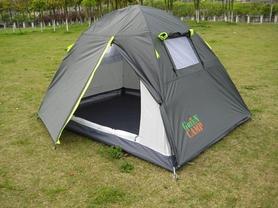 Распродажа*! Палатка двухместная GreenCamp 1001-A серая