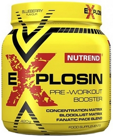 Комплекс предтренировочный Nutrend Explosin 420 г черника