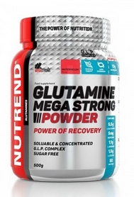 Аминокислоты Nutrend Glutamine Mega Strong Powder 500 г (пунш+клюква)
