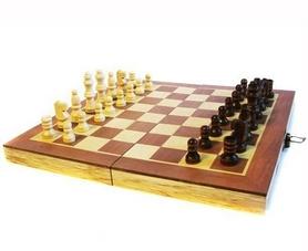 Фото 2 к товару Набор настольных игр 3 в 1 (шахматы, шашки, нарды) W7721