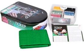 Набор для игры в покер, 120 фишек с номиналом IG-6612