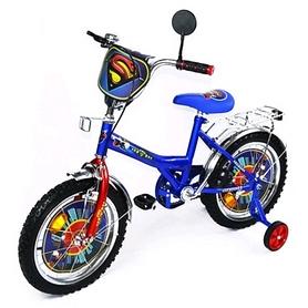 "Велосипед детский Baby Tilly Супермен 16"" BT-CB-0008 синий"