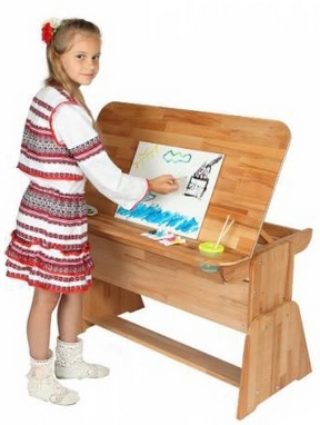 Парта мольберт с пеналом Абсолют мебель