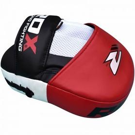 Фото 4 к товару Лапы боксерские RDX Gel Focus Red (2 шт)