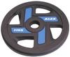 Диск олимпийский полиуретановый 20 кг Alex с хватами цветной - 51мм - фото 1