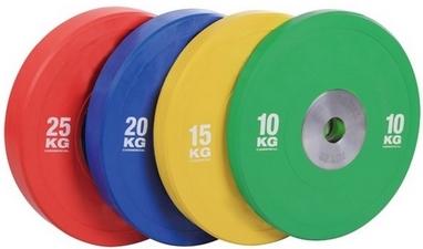Диск олимпийский бамперный 20 кг Rising PL41B-20 цветной - 51мм