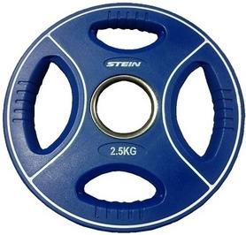Диск олимпийский полиуретановый 2,5 кг Stein DB6092-2.5 с хватами цветной - 51мм