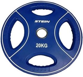 Диск олимпийский полиуретановый 20 кг Stein DB6092-20 с хватами цветной - 51мм