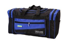 Сумка спортивная DUFFLE BAG UKRAINE GA-4633 (PL, р-р 50х19,5х24см, черный-синий)