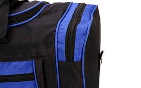 Фото 3 к товару Сумка спортивная DUFFLE BAG UKRAINE GA-4633 (PL, р-р 50х19,5х24см, черный-синий)