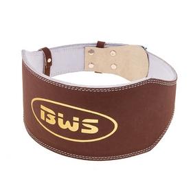 Пояс штангиста BWS-6PUBRW широкий коричневый - XL