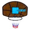 Кольцо баскетбольное со щитом Chicago CNB-1238C - фото 1