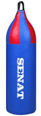 Мешок боксерский шлемовидный Senat (кожзам) 70х21 см синий