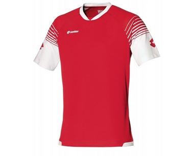 Футболка футбольная Lotto Jersey Omega Q8528 Flame/White