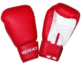 Фото 1 к товару Перчатки боксерские Senat 1512 красно-белые