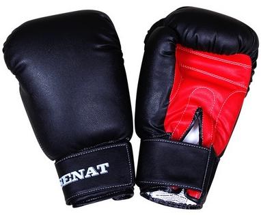 Перчатки боксерские Senat 1512 черно-красные
