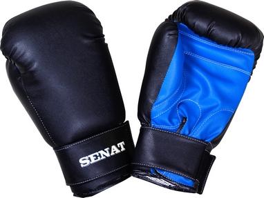Перчатки боксерские Senat 1512 черно-синие