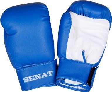 Перчатки боксерские Senat 1550 сине-белые
