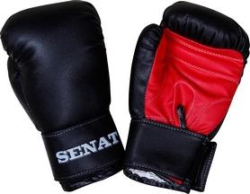 Перчатки боксерские Senat 1550 черно-красные