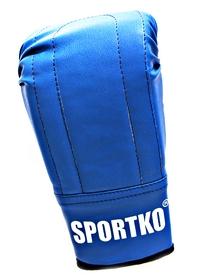 Перчатки снарядные кожаные Sportko PD-3-BL синие