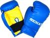 Перчатки боксерские Senat 1536 сине-желтые 4 oz - фото 1